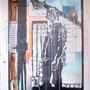 Tafel 4 – Bildnis; Öl auf bedrucktem Papier, kaschiert auf seitlich mit Aluminium gerahmtem Holzgestell; 184,5 x 134,0 x 5,0 cm; 2015