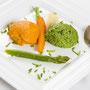 Tomaten- und Bärlauch-Mousse mit Gemüse der Saison ©M.Schröder/CM Digital Color