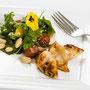 Gegrillter Tintenfisch mit Bohnen-Wildkräuter-Salat ©M.Schröder/CM Digital Color
