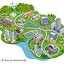 エコ、エコロジー、自然、都市、町並み