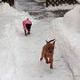 Die Mädels auf Schneetour