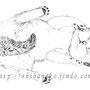 「ポイントの夢」 鉛筆画 (A4サイズ)