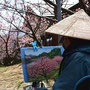 對島瞭 「春を楽しむ」(静岡県河津町)