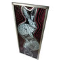 gebrandschilderd glas in lood haas./ painted stained glass hare