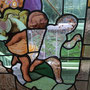 gebrandschilderd glas in lood engel / stained glass cherub