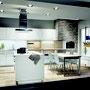 cuisine desing ouverte et moderne blanche et bois par cuisine design Toulouse