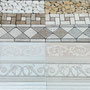 Several border designs are available in multiple colors.