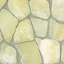 Translucent onyx pebbles are beautiful on floors, as borders and feature strips, and in backsplashes.