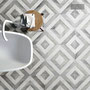 Don't break up a daring pattern with a boring register cover! Cut your patterned tiles to fit our custom heat registers.