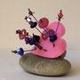 BI-BAG-JAR-004-Bague Jardin coeur rose 2,5x3,5cm (feutrine, perles, anneau cuivré réglable) - 25€