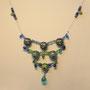 BI-COL-MOD-TET-002-Collier Têtes bleu 8x8,5x43cm (modelé et peint à la main) - 50€ Sur commande