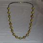 BI-COL-MOD-MOS-002-Collier Mosaïque jaune 44cm (perles modelées et peintes à la main, perles) - 40€ Sur commande