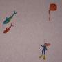 PEINT-CH-MER-007-Plongeuse, raie et requins