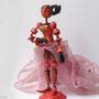 DECO-PERS-MOD-004-Rebecca à la jupe rose H.18cm (modelée et peinte à la main) - 70€ VENDU