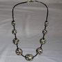 BI-COL-MOD-MOS-001-Collier Mosaïque brun 42cm (perles modelées et peintes à la main, perles) - 40€ Sur commande