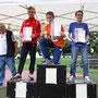 Die drei Erstplatzierten über 800 m: Nikolas Kania, Felix Düngelhoef, Sebastian Staadt (von li. nach re.)