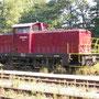 Abgestellte V60( Ost) der Hochwaldbahn auf dem Südberg.