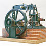 """Halb-Balancier Dampfmaschine"""