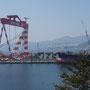 Geojedo, kleine Bucht mit Werft für Öltanker...