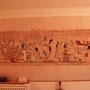 Wandmalerei im ägyptischen Stil
