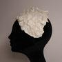 白いお花のヘアバンド tête salon de chapeau