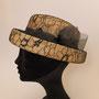 麦のセーラーハット(レース)tête salon de chapeau