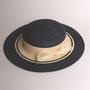 麻ブレードキャノチエ tête salon de chapeau