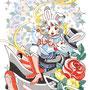 ◆ベクターイラスト(配色まで)+素材塗り加工(質感)◆みみりんのママがセーラー戦士だった若かりし頃(しまじろう×セーラームーン)※二次創作
