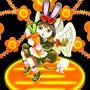 ◆デジタルイラスト色々◆黒兎頭巾猫ちゃん「ウサギにゃのよ」