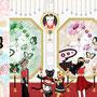 ◆ベクターイラスト(配色まで)+素材塗り加工(質感)◆宝石絵画の展覧会