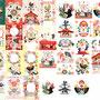 ◆ベクターイラスト(配色まで)+素材塗り加工(質感)◆2017年酉年年賀状用イラストとデザイン