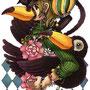 ◆デジタルイラスト色々◆猫×少女×オニオオハシ