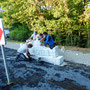 Der Aufbau am 25. August 2016 durch die Fa. Hergenhahn Naturstein