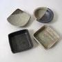 豆皿各種 (黒から時計回り 6.5角×2㎝ 7.5角×2㎝ 7.5径×2.5㎝)