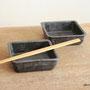 角鉢 黒 (11.5×11.5×3.5cm)