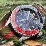 Band: Solitary Nato »Yul«  | Uhr: Steinhart Ocean 39 Vintage GMT Blue Red