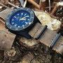 Band:Nato Leder PVD »Mud« | Uhr: Squale 1521 T PVD