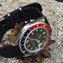 Band:HC Nato Split long schwarz | Uhr: Rolex GMT Master 16700