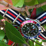 Band: Nato G10  »Cuba« | Uhr: Rolex GMT Master 16700