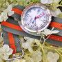 Band: Zulu HC 3 Ring »Pumpkyn«   Uhr: Doxa Searambler 1200 T
