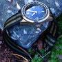 Band: Nato Split »Olive Bond« | Uhr: Ollech & Wajs Caribbean 1000