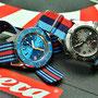 Band: Nato G10 »Martini« und »Bavarian Power« | Uhr: Squale 1521 LE Blu und Breitling Colt