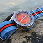 Band: Nato XT »Gulfy« | Uhr: Zeno Army Diver orange