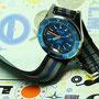 Band: HC Nato Split »Mariner« | Uhr: Squale 1521 LE Blu