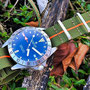 Band: Nato Matt »Mustang«  | Uhr: Steinhart Ocean 39 GMT Boutique Edition