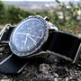 Band: HC Seatbelt Nato »Phantom« | Uhr: Omega Speedmaster Moonwatch