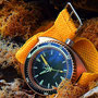 Band: Braided Yellow | Uhr: Aquadive Bathyscaphe 100 Bronze