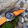 Band: NATO SPLIT | orange | Uhr: Dagaz Zero Bund