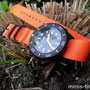 Band: ZULU | PVD 5-Ring | orange | Uhr: Squale 1521-026 PVD T