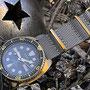 Band: Nato Gold »Slate« | Uhr: Seiko SRPC44